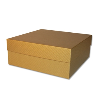 Large gold set up boxes