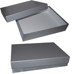 Silver Rigid Set Up Stationers Boxes
