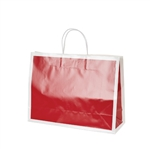 San Francisco Shopping Bags-Large Bridge Red