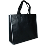 "Non-Woven San Francisco Bags - 16"" x 14"" x 6"" - Black 100 Bags/Case"