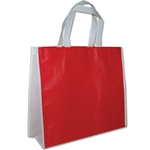 "Non-Woven San Francisco Bags - 16"" x 14"" x 6"" - Red 100 Bags/Case"