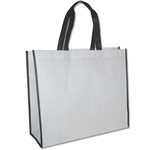 "Non-Woven San Francisco Bags - 16"" x 14"" x 6"" - White 100 Bags/Case"