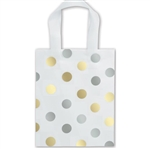 Frosted Petite Gold Silver Dots Bags