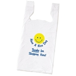 Smiley Face Plastic T-Shirt Bags