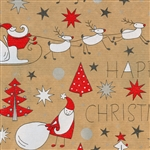 Happy Christmas Kraft Gift Wrap Paper