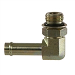 4601 Steel Beaded Hose Barb Hydraulic Fitting Adapter