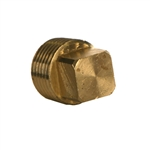 Square Head Pipe Plug, NPTF Brass Fitting