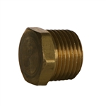 Hex Head Pipe Plug, NPTF Brass Fitting