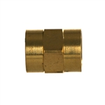 NPTF Pipe Female x NPTF Pipe Female Brass Fitting