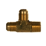 SAE x NPTF Pipe Male Run Tee Brass Fitting