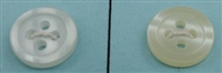 Polyester Shirt Buttons - Normal Thickness K33 - Rounded-Edge 4 Holes