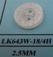 Logo Engraved Polyester Shirt Buttons - LK643W