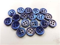 dyed medium blue pearl shirt buttons