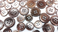 Dyed Brown Trocas Shell Buttons - 24L