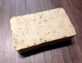 Almond & Cinnamon Coffee Soap enriched with organic Clipper Coffee