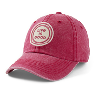 Life is Good Sunworn Red Coin Hat