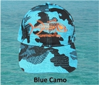 Tormenter Premium Hat-Blue Camo Baseball Cap with Tuna