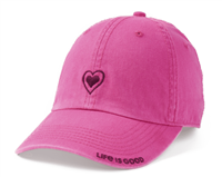 Life is Good Heart Outline Hat