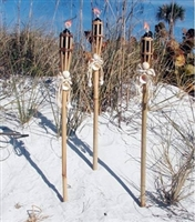 Bamboo Tiki Torches<BR>Set of Three
