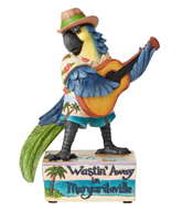 Jim Shore Margaritaville Muscial Parrot Playing Guitar