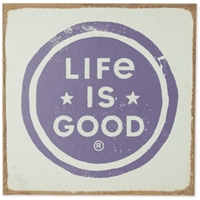 Life is Good Logo Coin Large Sign