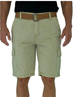 Short Fin Resort Wear Belted Cargo Short
