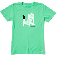 Life is Good Cat Adirondack Crusher Crew Tee