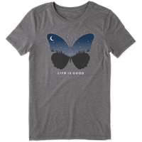 Life is Good Celestial Butterfly Cool Crew Tee