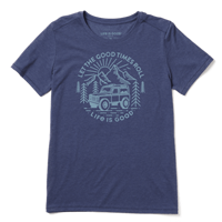Life is Good Good Times Roll Cool Crew Tee