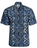 "Men's Batik Button Front Shirt ""Highlander"""