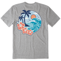 Life is Good Big Wave Crusher Tee