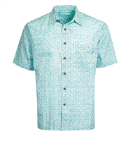 "Men's Batik Button Front Shirt ""Newport"""
