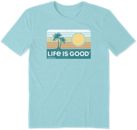 Life is Good Retro Beach Cool Tee