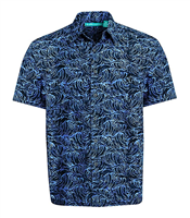 "Men's Batik Button Front Shirt ""Santa Monica"""