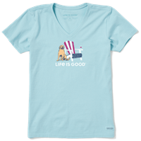 Life is Good American Adirondack V-Neck Crusher Tee