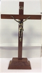 Wooden Crucifix with base (30cm)