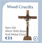 Wooden cross with base (44cm)