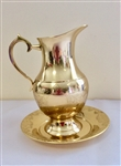Gold engraved baptismal jug