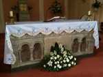 Blue and Gold Mary Altar Cloth