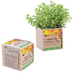 Choose your seed for this Blossom Kit that comes in a pine wood box and give your guest a lasting wedding gift