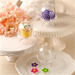 Showcase a cupcake, truffle or other delicacy at your  candy bar or table in this mini acrylic cake stand