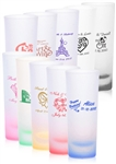 "Custom Printed 2 oz. Colored Frosted ""Shooter"" Shot Glass Wedding Favor"