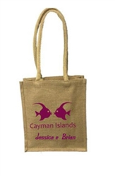 Natural Jute Tote with custom message or artwork