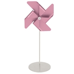 Stainless steel pinwheel place card holder