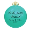 Customized round Christmas wedding ornaments