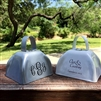 Custom printed classic wedding cowbell in several colors