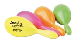 Customize these colorful wedding maracas for a great wedding favor