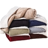 Give the gift of luxury with this soft and plush embroidered Sherpa Blanket