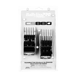 BABYLISS PRO BARBEROLOGY ATTACHMENT COMB 8 PC SET BLACK SIZE 1/16″, 1/8″, 3/16″, 1/4″, 3/8″, 1/2″, 5/8″, 3/4″ #FXCS880 (FITS TO : FXC880/650) #FXCS880