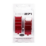 BABYLISS PRO BARBEROLOGY ATTACHMENT COMB 8 PC SET RED SIZE 1/16″, 1/8″, 3/16″, 1/4″, 3/8″, 1/2″, 5/8″, 3/4″, FADE GUARD #FXCSX271 (FITS TO : FX811, FXF811, FXB811, FX671) #FXCSX271